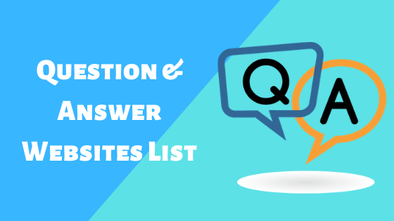 Question and Answer Website List